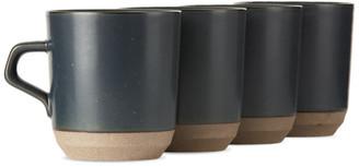 KINTO Black Ceramic Lab CLK-151 Large Mug Set, 14 oz