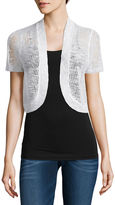 It's Our Time IT S OUR TIME Open Front Shrug Short Sleeve Cardigan-Juniors