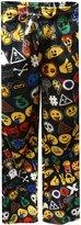 Mad Engine Emoji Explosion Modern Flannel Lounge Pants for men