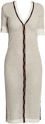Fendi Micro Mesh Knit Midi Dress
