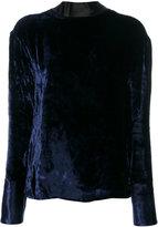 Maison Margiela velvet open back blouse