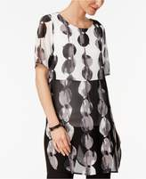 Alfani Printed Colorblocked Tunic, Created for Macy's