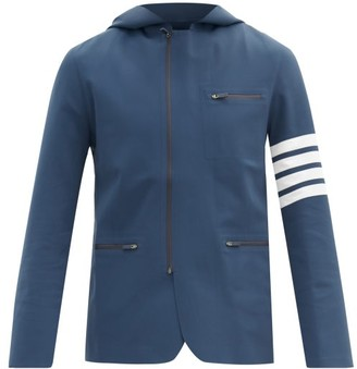 Thom Browne Four-bar Shell Hooded Jacket - Navy