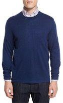 Neiman Marcus Cashmere-Silk Crewneck Sweater, Navy