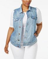 Lucky Brand Trendy Plus Size Denim Trucker Vest