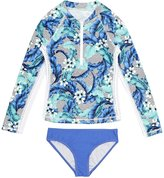 Seafolly Jungle Geo L%2Fs Surf Set