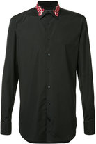 Alexander McQueen collar shirt - men - Cotton - 16 1/2