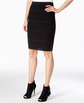 Bar III Perforated Pencil Skirt, Only at Macy's