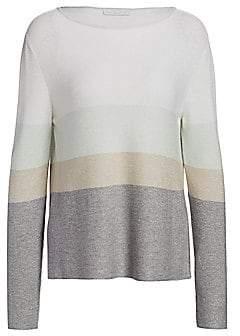 Fabiana Filippi Women's Striped Wool & Lurex Boatneck Sweater
