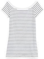 Ralph Lauren Striped Off-The-Shoulder Top