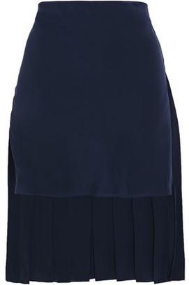 Chloé Asymmetric Pleated Silk-crepe Mini Skirt