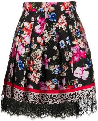 Liu Jo Floral-Print Pleated Skirt