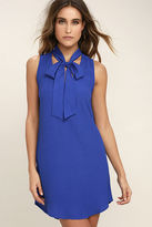 Lucy-Love Lucy Love Start Fresh Royal Blue Shift Dress