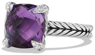 David Yurman 11mm Chatelaine Ring w/Diamond Prongs