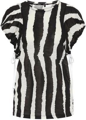 Proenza Schouler Zebra-print cotton top