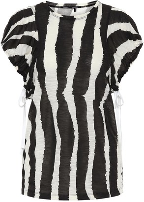 Proenza Schouler Zebra-print cotton top