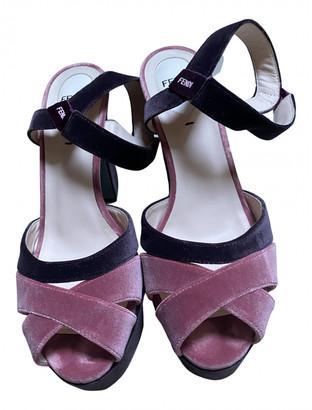 Fendi Pink Velvet Heels