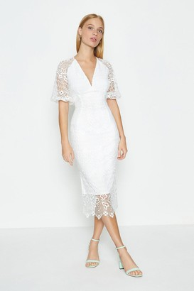 Coast Lace V Neck Sleeved Dress