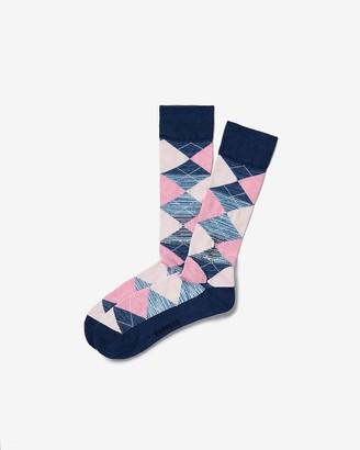 Express Space Dyed Cushioned Argyle Socks