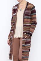 Sisters Long Stripe Cardigan