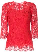 Dolce & Gabbana lace pattern scalloped blouse