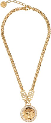 Versace Medusa Head Embellished Chain Necklace