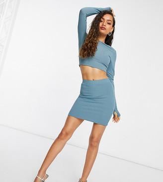Club L London Petite mini skirt in petrol blue