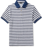 Etro Slim-Fit Striped Cotton-Blend Terry Polo Shirt