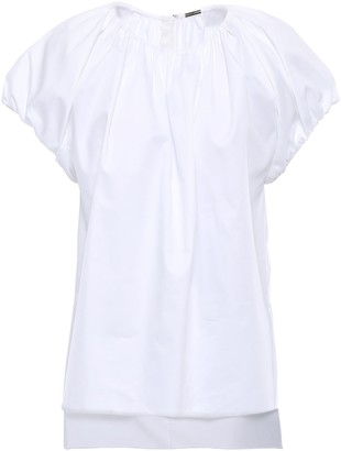 Adam Lippes Gathered Cotton-poplin Blouse