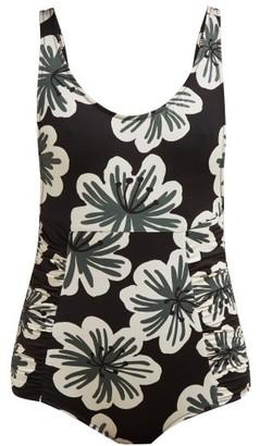 Dodo Bar Or Adinna Scoop-back Floral-print Swimsuit - Black Multi