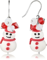 Dolci Gioie Snowman Pendant Earrings with Crystals
