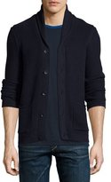 Rag & Bone Avery Shawl-Collar Textured Cardigan, Navy