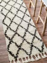 nuLoom Mack Hand-Knotted Wool Shag Runner