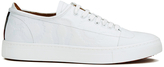 Vivienne Westwood Man Embossed Squiggle Leather Oxford Trainers White