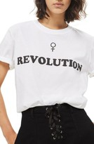 Topshop Women's Female Revolution Graphic Tee