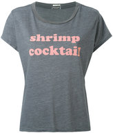 Mother Shrimp Cocktail T-shirt - women - Cotton/Polyester/Viscose - XS