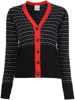 Barrie cashmere panelled cardigan
