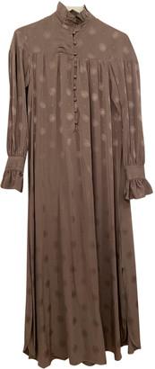 Sandra Mansour Grey Viscose Dresses