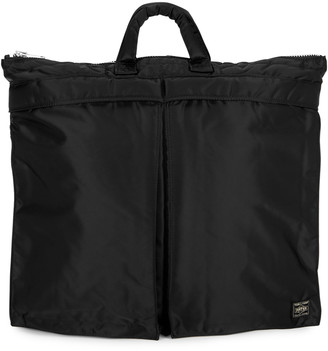 Porter Black padded nylon tote