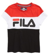 Fila Girl's Color Block Logo Tee