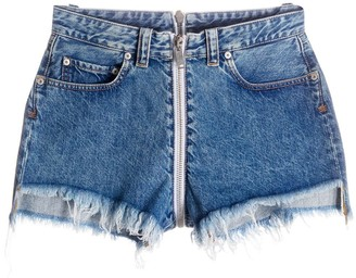 Unravel Project Front-To-Back Raw Denim Shorts