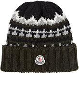 Moncler Fair Isle Knit Hat-GREEN