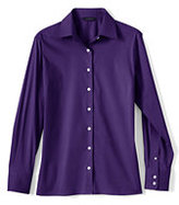 Classic Women's Petite Long Sleeve Stretch Broadcloth Shirt-Prism