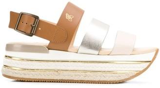 Hogan Panelled Platform Sandals