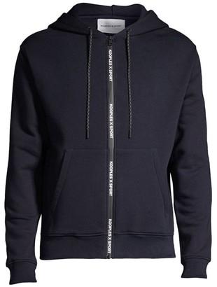 The Kooples Zip-Up Logo Sweatshirt