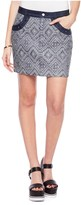 Juicy Couture Indigo Rio Jacquard Skirt