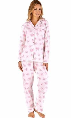 "Slenderella /""Minky/"" Animal Print Fleece Nightshirt Grey or Pink S M L XL"