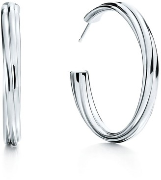 Tiffany & Co. Paloma's Melody hoop earrings in sterling silver, large