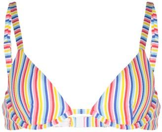 Onia Anna striped print bikini top