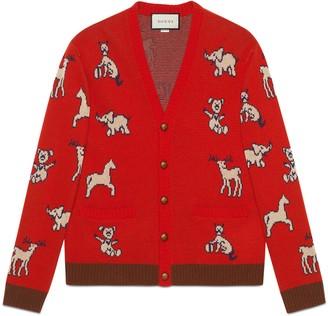Gucci Hawaii wool cotton cardigan